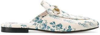 Gucci Princetown rose print slippers