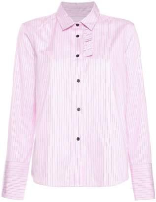 Lareida pinstripe ruffle shirt