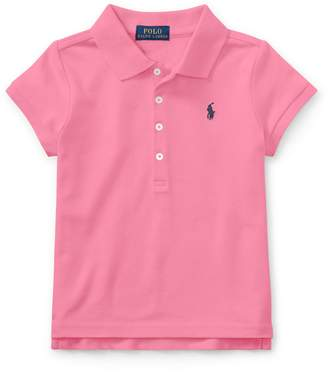 Ralph Lauren Childrenswear Little Girl's Mesh Short-Sleeve Polo
