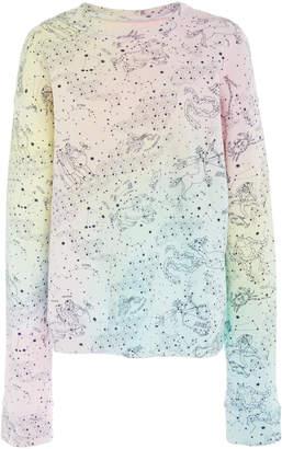 The Elder Statesman Printed Cotton Fleece Sweatshirt