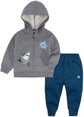 Hurley Baby Boy Shark Zip Hoodie & Jogger Pants