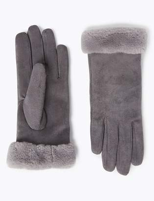 Marks and Spencer Faux Sheepskin Gloves