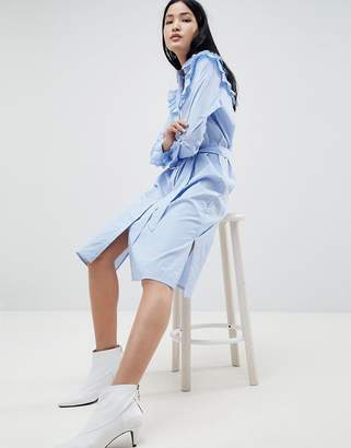 Gestuz Tam Stripe Shirt Dress with Ruffle Details