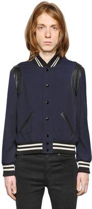 Wool Gabardine Teddy W/ Leather Details $2,390 thestylecure.com