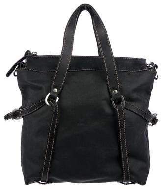 Hogan Leather-Trimmed Satchel