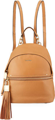Iconic American Designer Lynn Pebble Leather Backpack with Tassel