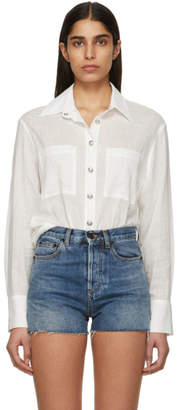Balmain White Linen Shirt