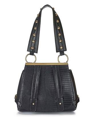 At Fashion World Saddle Bag With Studded Guitar Strap