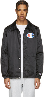 Champion Reverse Weave Black Coach Track Jacket $150 thestylecure.com