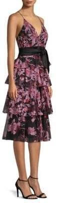 Aidan Mattox Embroidered Floral Dress