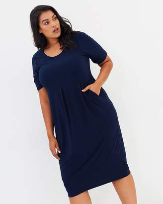 Evans Scoop Neck Pocket Dress
