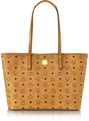 MCM Anya Cognac Top Zip Medium Shopping Bag