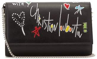 Christian Louboutin Loubitag Paloma Clutch - Womens - Black Multi
