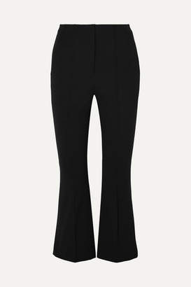 Alexander Wang Cropped Intarsia Cotton-blend Twill Flared Pants - Black