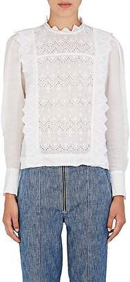 Isabel Marant Women's Nutson Embroidered Voile Top