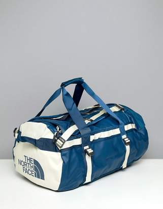 The North Face Base Camp Duffel Bag Medium 71 Litres in Blue/White