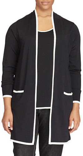 Lauren Ralph LaurenLauren Ralph Lauren Plus Open-Front Long-Sleeve Cardigan