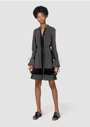 Derek Lam 10 Crosby Long Sleeve Ruffle Shift Dress