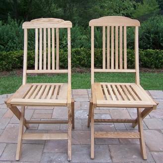 Wooden Outdoor Folding Event Chair 2-piece Set