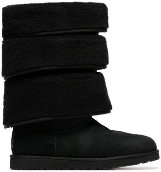 Y/Project Y / Project x UGG black triple layered shearling boots