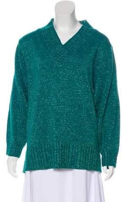 Diane von Furstenberg Metallic Medium-Weight Sweater