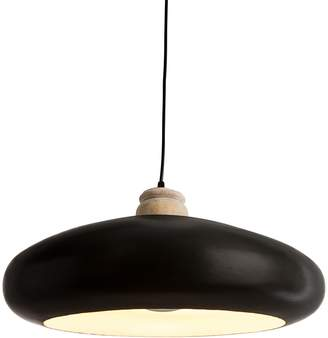 Casa Uno Black Finial Oval Pendant Light