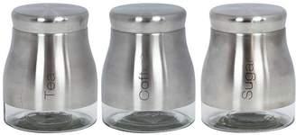 Sabichi STAINLESS STEEL & GLASS 3 PIECE KITCHEN STORAGE SET