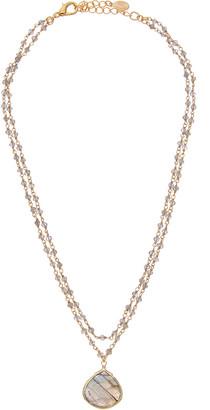 Rachel Reinhardt 14K Over Silver Labradorite Necklace