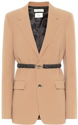 Bottega Veneta Belted wool-gabardine blazer
