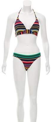Stella McCartney Striped Two-Piece Swimsuit w/ Tags