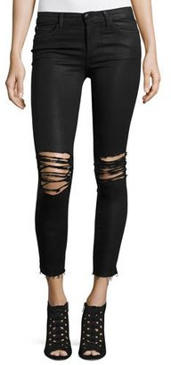 Joe's Jeans The Icon Ankle Coated Jeans w/Distressing, Masie $198 thestylecure.com