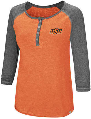 Colosseum Women's Oklahoma State Cowboys Burnout Heather Henley T-Shirt