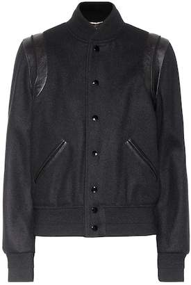 Saint Laurent Wool varsity jacket