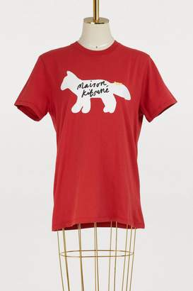 MAISON KITSUNÉ Fox cotton T-shirt