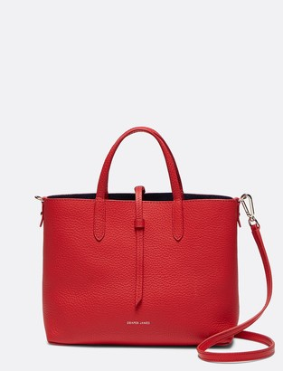 Draper James Leather and Suede Reversible Mini Tote
