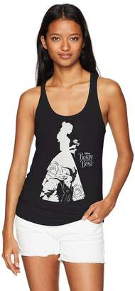 Disney Women's Beauty and the Beast Belle Silhouette Racerback Tank Top