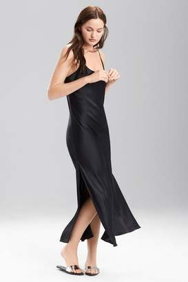 Josie Natori Lolita Long Gown with Slit