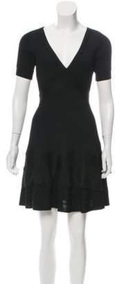Antonio Berardi Ribbed Mini Dress Black Ribbed Mini Dress