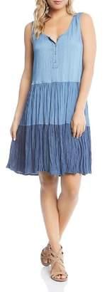 Karen Kane Tiered Chambray Dress