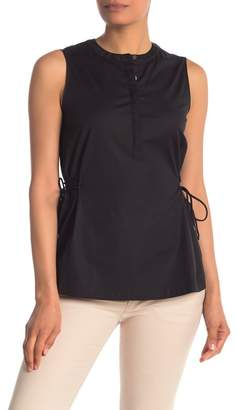 Theory Sleeveless Side Tie Blouse