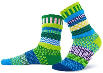 Solmate Socks Mismatched Socks Water Lily