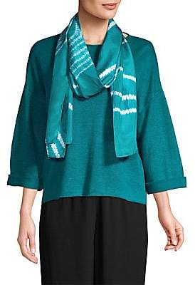 Eileen Fisher Women's Abstract Silk Scarf