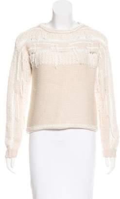 Ramy Brook Fringe-Trimmed Wool Sweater