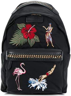 Stella McCartney Falabella tropical embroidery backpack