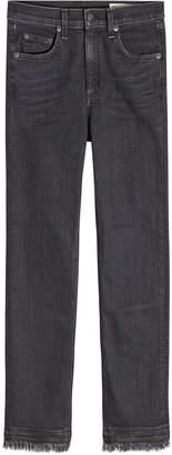 Rag & Bone Cropped Jeans with Fringe