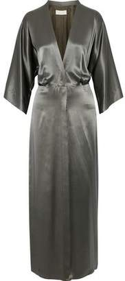 Michelle Mason Silk-Charmeuse Maxi Dress