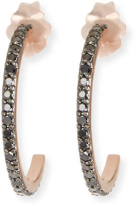 Lana Reckless 14k Tiny Black Diamond Hoop Earrings
