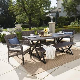 Darby Home Co Weccacoe 6 Piece Dining Set with Cushions Darby Home Co