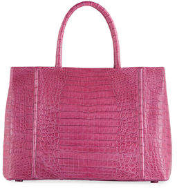 Nancy Gonzalez Large Crocodile Sectional Tote Bag