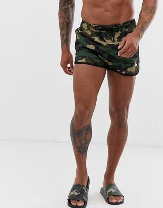 32c4693cd8 Jack and Jones shorter swim Shorts in camo print